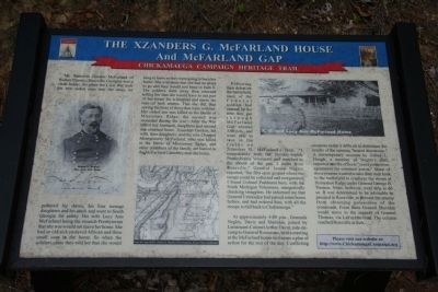 The Xzanders G. McFarland House and McFarland Gap Marker image. Click for full size.