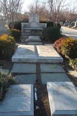 Sousa family plot at Congressional Cemetery in southest Washington, DC image. Click for full size.
