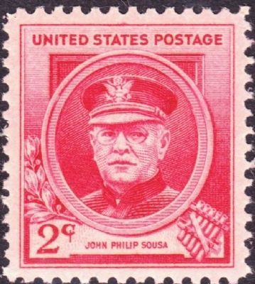 John Philip Sousa - memorial postage stamp, 1940 image. Click for full size.