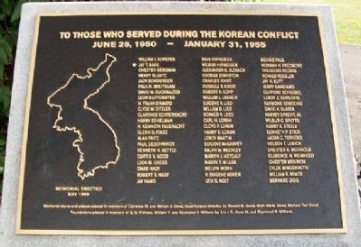 East Cocalico Township Korean War Memorial image. Click for full size.