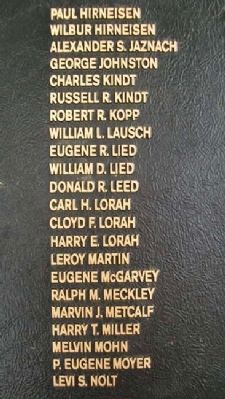 East Cocalico Twp Korean War Memorial Honor Roll image. Click for full size.