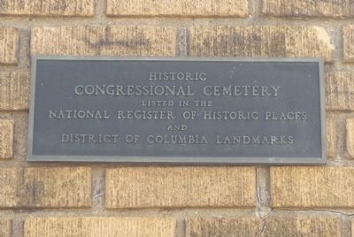 Historic Congressional Cemetery Marker image. Click for full size.