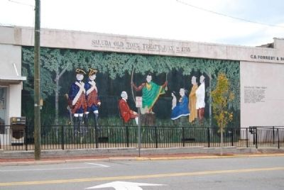 Saluda Old Town Treaty, July 2, 1755 Mural image. Click for full size.