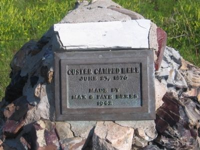Custer Camped Here Marker image. Click for full size.