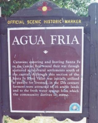 Agua Fria Village Historical Marker image. Click for full size.