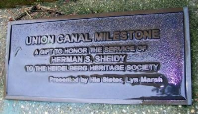 Union Canal Milestone Marker image. Click for full size.