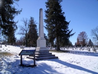 Woodbine Cemetery Confederate Monument Photo, Click for full size