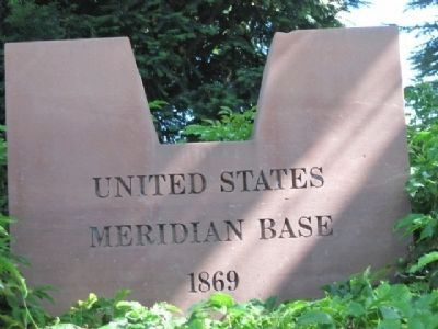 Meridian Marker Photo, Click for full size