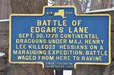 Battle of Edgar's Lane Marker image. Click for full size.