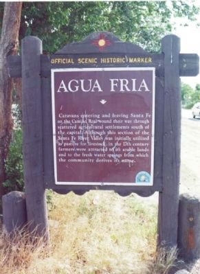Agua Fria Village Historical Marker image, Click for more information