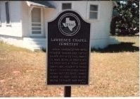 Lawrence Chapel Cemetery Marker image. Click for full size.