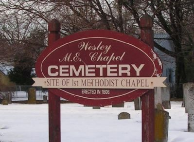 Wesley M.E. Chapel Cemetery Marker image. Click for full size.