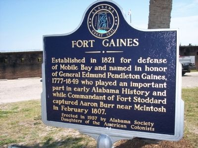 Fort Gaines Marker image. Click for full size.
