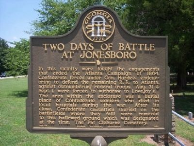 Two Days of Battle at Jonesboro Marker Photo, Click for full size