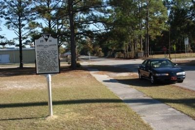 American Legion Hut Marker, looking southeast, near the intersection of Jackson Ave. & Hoover St. image. Click for full size.