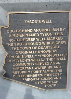 Tyson's Well Marker image. Click for full size.