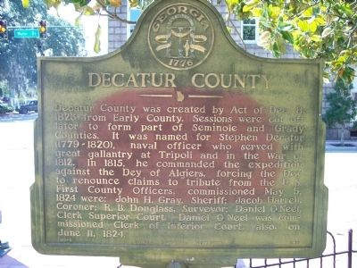 Decatur County Marker image. Click for full size.