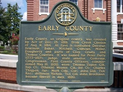 Early County Marker image. Click for full size.