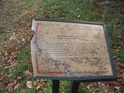 Damage to Marker image. Click for full size.