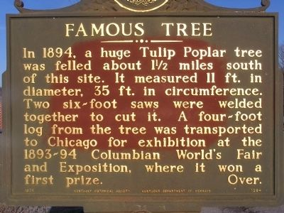 Famous Tree Marker image. Click for full size.