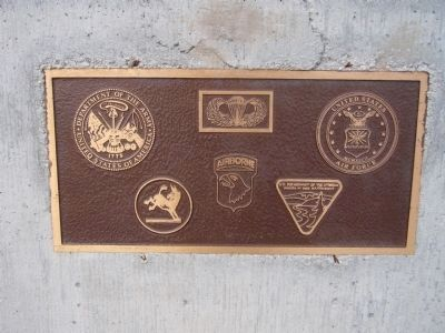 Plaque below the Desert Strike Marker image. Click for full size.