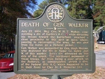 Death of Gen. Walker Marker image. Click for full size.