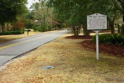 The Old Village Marker, looking southeast along Royall Avenue image. Click for full size.