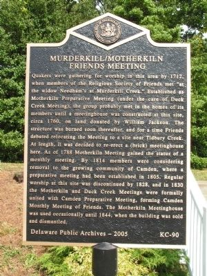 Murderkill/Motherkiln Friends Meeting Marker Photo, Click for full size