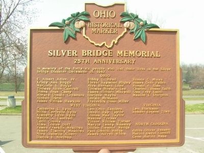 The Silver Bridge Disaster Marker image. Click for full size.