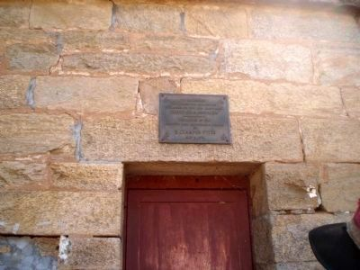 The Hornitos Jail and ECV Plaque image. Click for full size.