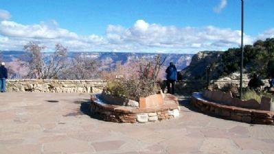 South Rim View from Rear of Bright Angel Lodge image. Click for full size.