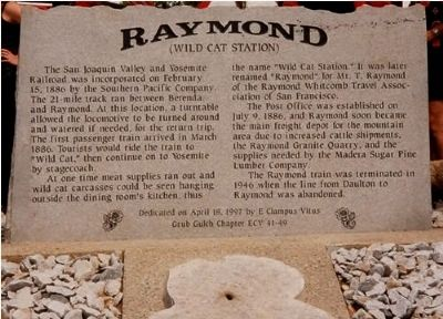 Raymond Marker image. Click for full size.