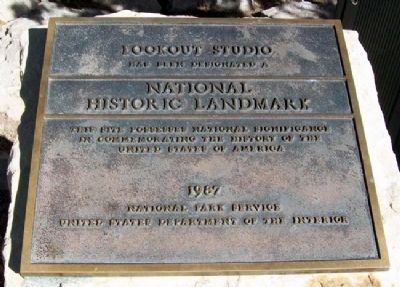 Lookout Studio National Historic Landmark Marker image. Click for full size.