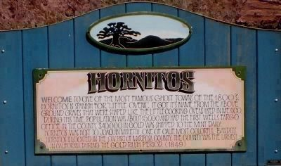 Hornitos Marker image. Click for full size.
