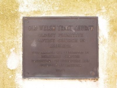 Old Welsh Tract Church Marker image. Click for full size.