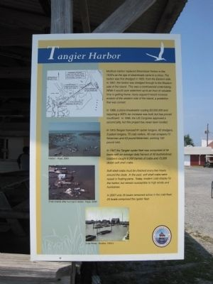 Tangier Harbor Marker image. Click for full size.