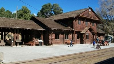 Santa Fe Depot and Marker image. Click for full size.