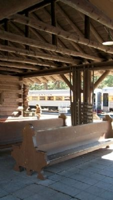 Santa Fe Depot Outdoor Waiting Area image. Click for full size.