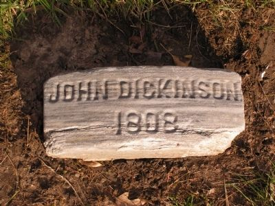 John Dickinson Gravestone Photo, Click for full size