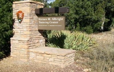 Horace M. Albright Training Center Sign image. Click for full size.