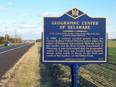 Geographic Center of Delaware Marker image. Click for full size.