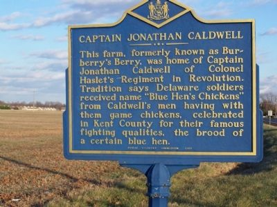 Captain Jonathan Caldwell Marker image. Click for full size.