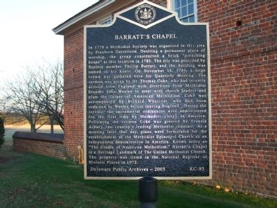 Barratt's Chapel Marker image. Click for full size.