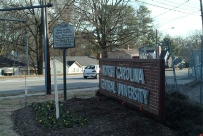 North Carolina Central University Marker image. Click for full size.