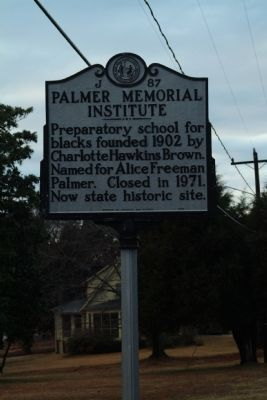 Palmer Memorial Institute Marker image. Click for full size.