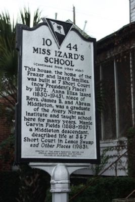 Miss Izard's School Marker image. Click for full size.