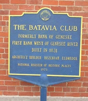 The Batavia Club Marker image. Click for full size.