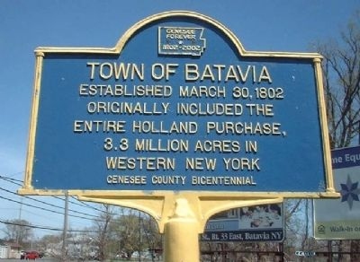 Town of Batavia Marker image. Click for full size.