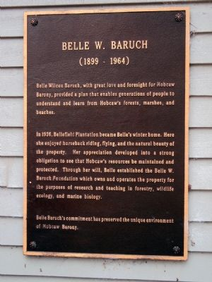 Belle W. Baruch Marker image. Click for full size.