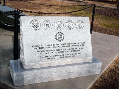 Veteran's Memorial Marker image. Click for full size.